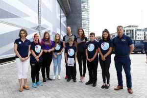 The Duke and Duchess of Cambridge with young people from Active Communities Network