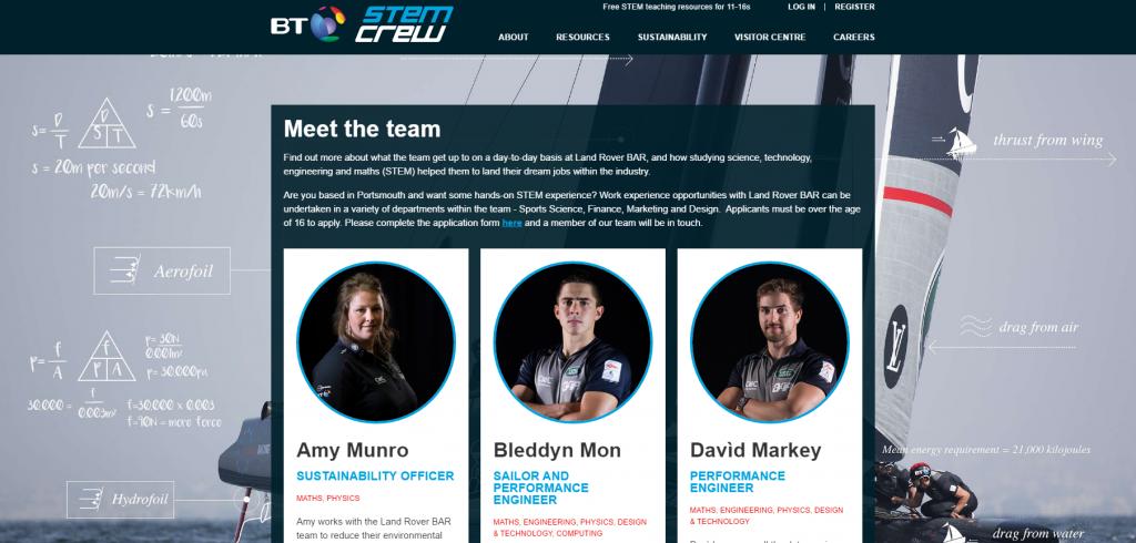 BT STEM Crew homepge